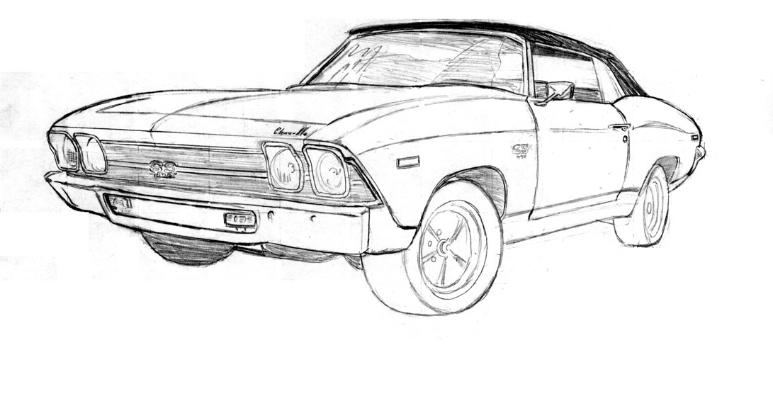 list of synonyms and antonyms of the word  69 chevelle drawing